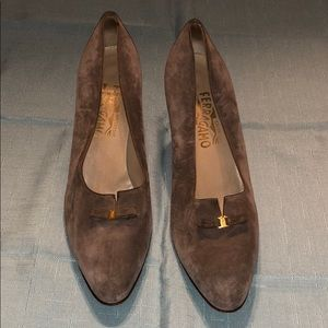 Salvatore Ferragamo Italy Suede Heels Shoes